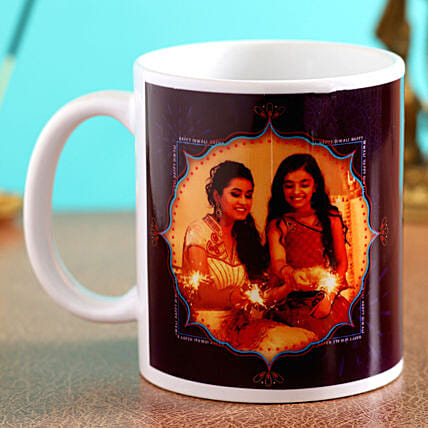 personalised diwali mug for her online