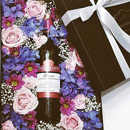 Floral Wine Gift Box