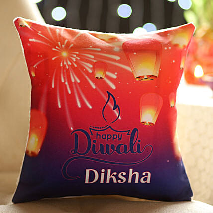 printed photo cushion for diwali online