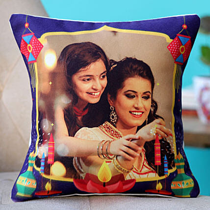 designer personalised cushion for diwali