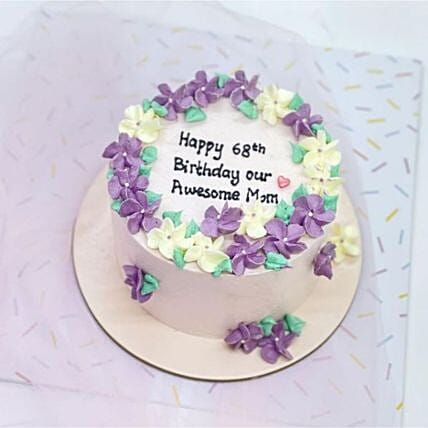 Purple Periwinkle Blackforest Cake