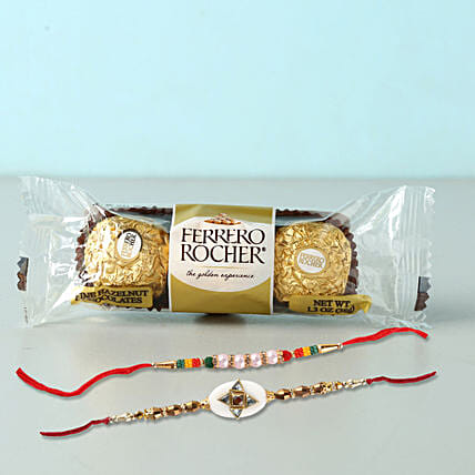 Set of 2 Fancy Rakhis With Rochers