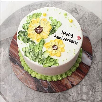 Shining Sunflower Blackforest Cake:Anniversary Gift Delivery in Indonesia