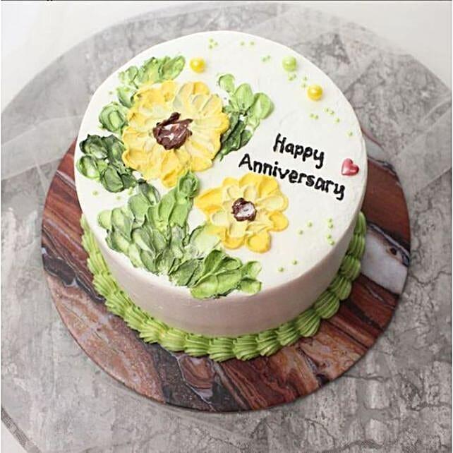Shining Sunflower Blackforest Cake