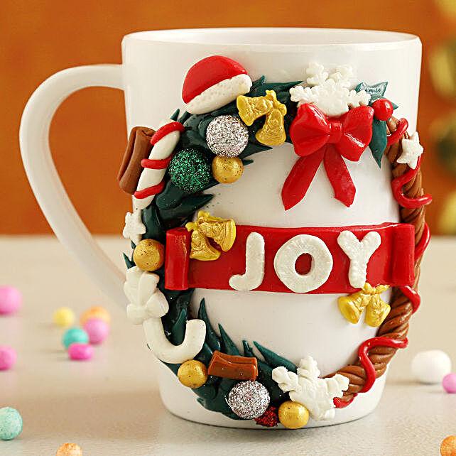 Special Christmas Wreath Joy Mug