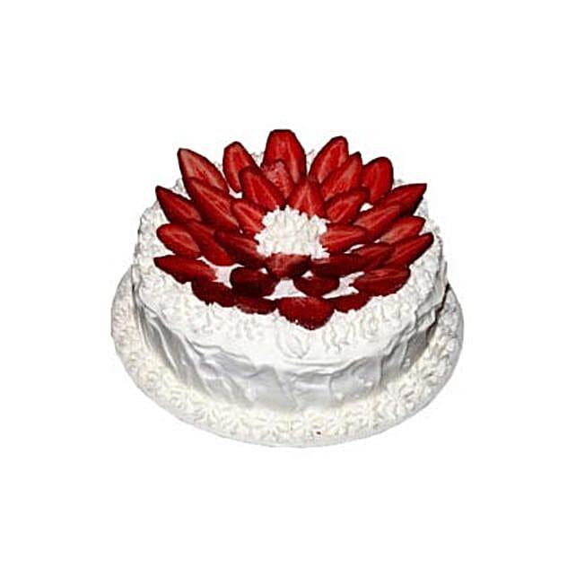 Strawberries & Cream Heaven:Send Anniversary Cakes to Indonesia