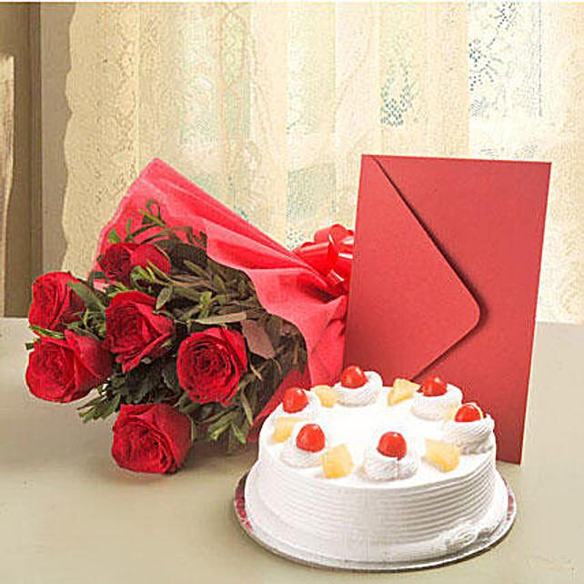 Roses N Cake Hamper