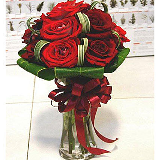 Stunning Red Roses Arrangement