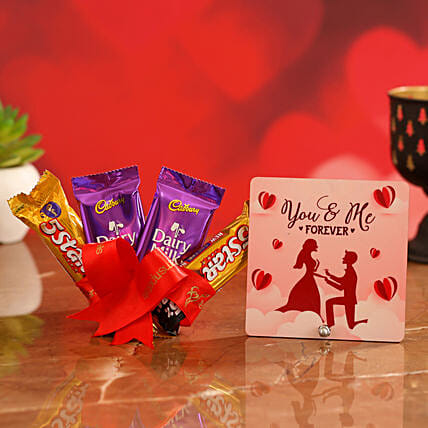 Valentine Special Chocolate & TableTop for Glrfrnd