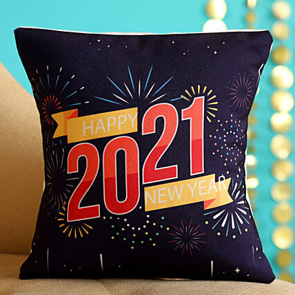 Booming Happy New Year 2021 Cushion:Gift Delivery in Ireland