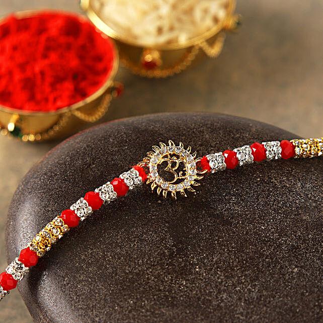 Spiritual Red Om Bracelet
