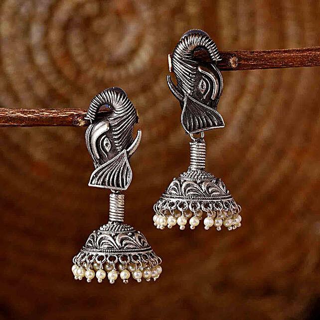 Classic Silver Oxidised Earrings