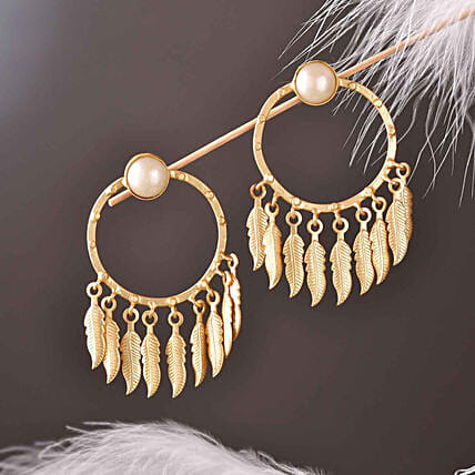 Round Shaped Pearl Earrings