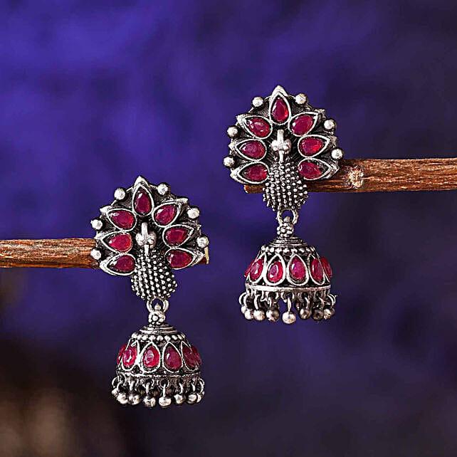 Stone Embellished Jhumki Style Earrings