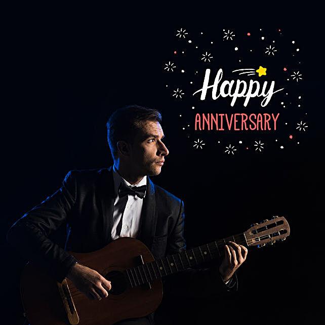 Happy Anniversary Romantic Tunes:Guitarist On Video Call In Israel