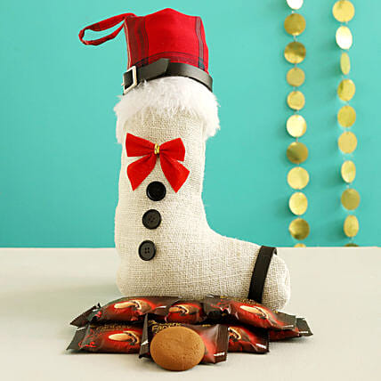 Dark Fantasy Choco Fills In Red & White Xmas Stocking