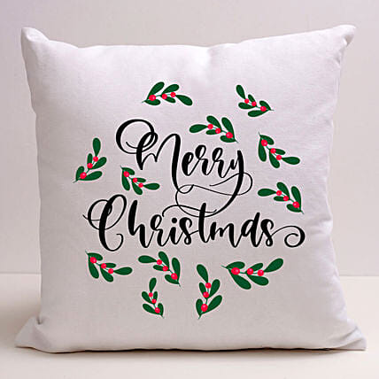 Pretty Merry Christmas Cushion:Christmas Gift Delivery in Jordan