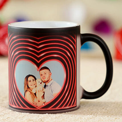 Personalised Heart Magic Mug
