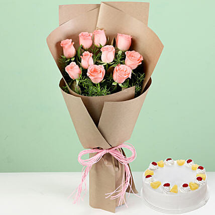 Flower and Cake Combo for Husband