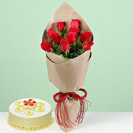 Flower and Cake Combo for Boyfriend