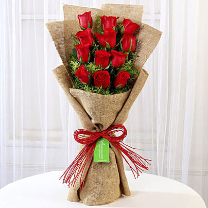 Multi Layered Red Rose Bouquet Online