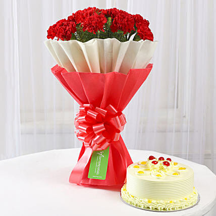 celebration of lovely bouquet or sweet cake