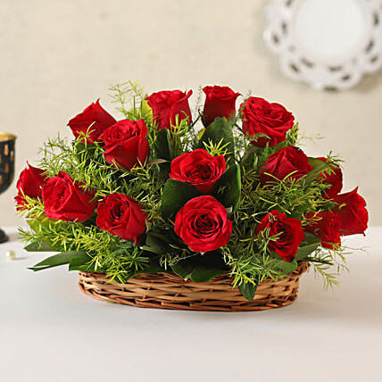 Online Red Roses:Flower Basket Arrangements