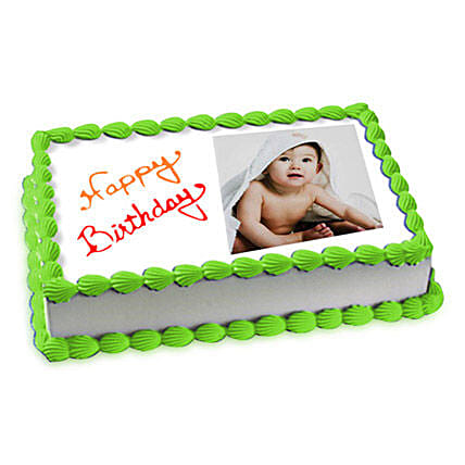 1kg Photo Cake Pineapple Eggless by FNP
