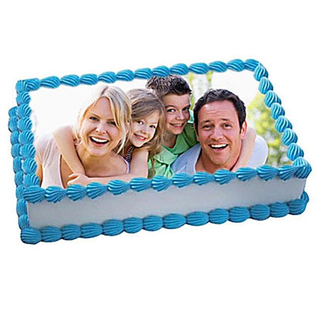 1kg Yummy Vanilla Photo Cake by FNP