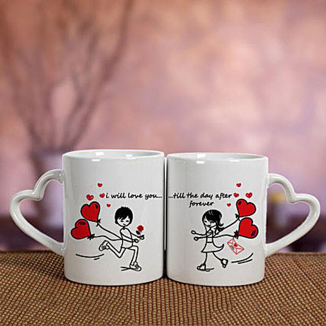 Valentines Printed Mug Set