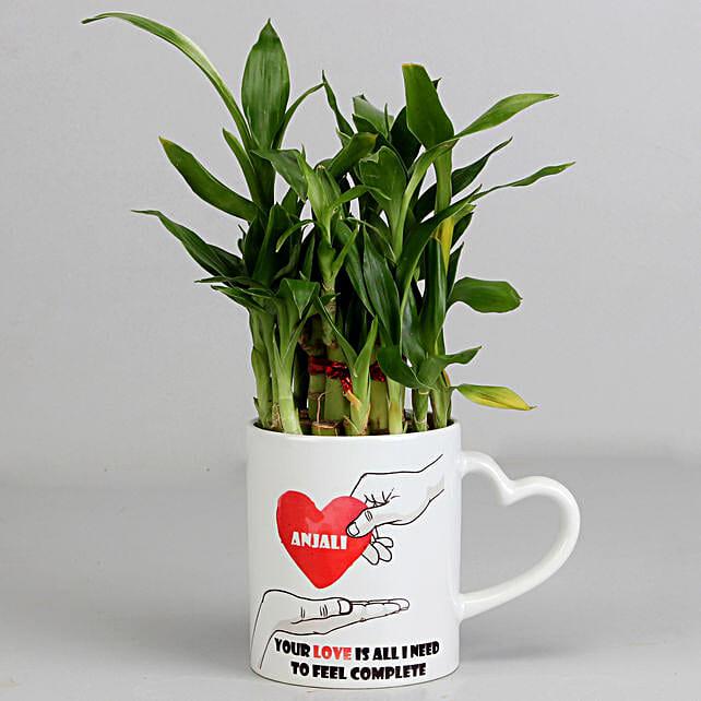 Bamboo Plant Mug for Valentine