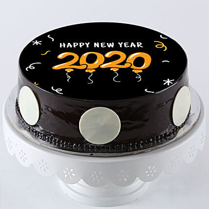 printed new year truffle cake online:New Year All Gifts