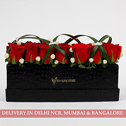 celebration of roses in beautiful box