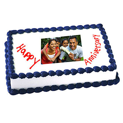 2kg Anniversary Photo Cake Eggless by FNP