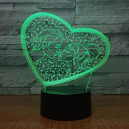 Online Couple Hologram Lamp:Funny Gifts