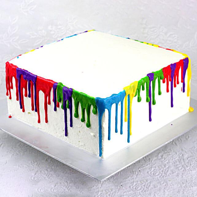 Designer Colored Pineapple Cake