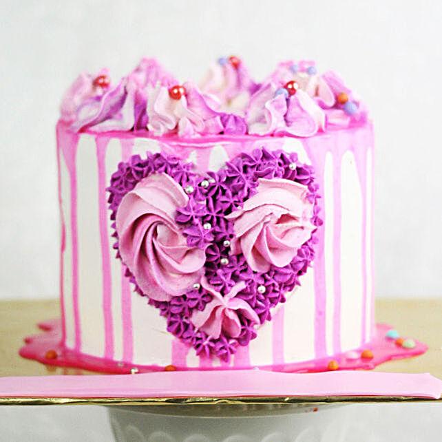 Designer Heart Cake Anniversary