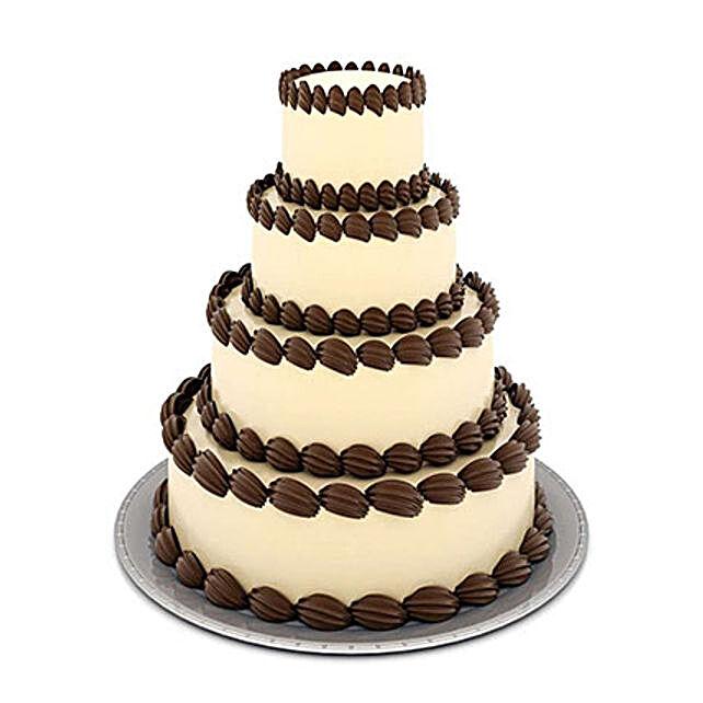 4 tier designer cream cake 6kg