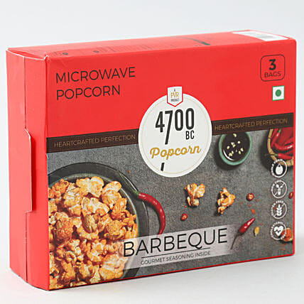 4700BC Microwave Popcorn, BBQ, Bag, 276g, (Pack of 3)