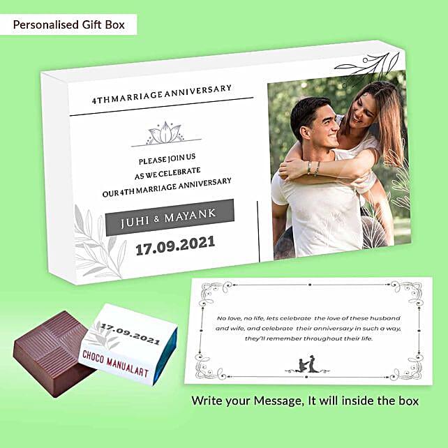 4th Anniversary Invite Personalised Assorted Chocolates