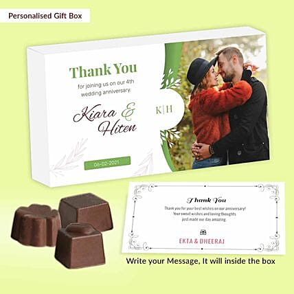 4th Anniversary Return Gift Special Personalised Chocolates