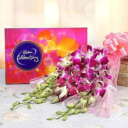 Frangrancing Flower With Sweet Chocolate