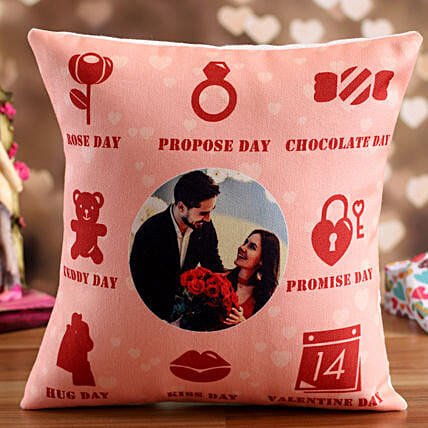 personalised cushion for valentines day:Send Hug Day Personalised Gifts