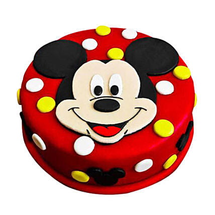Mickey Mouse Cartoon Cake for Birthday 1kg:Cakes to Shivpuri