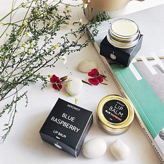 Aeronot Blue Rasberry Caffe Mochs Lip Balm Combo:Send Cosmetics & Spa Hampers
