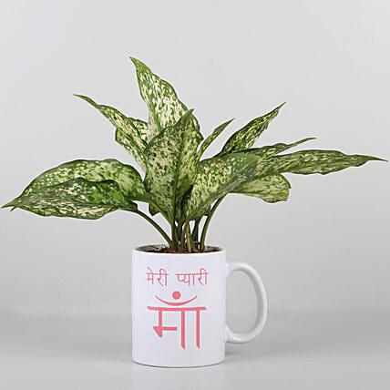 best printed mug with plant for mome