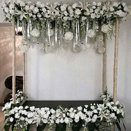 All White Sparkling Flower Decoration