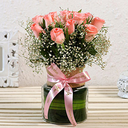 Alluring Roses Jar Arrangement:New Arrival Flowers