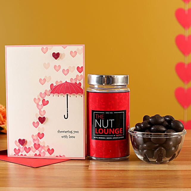 Online  Dark Chocolate Jar With Greeting Card