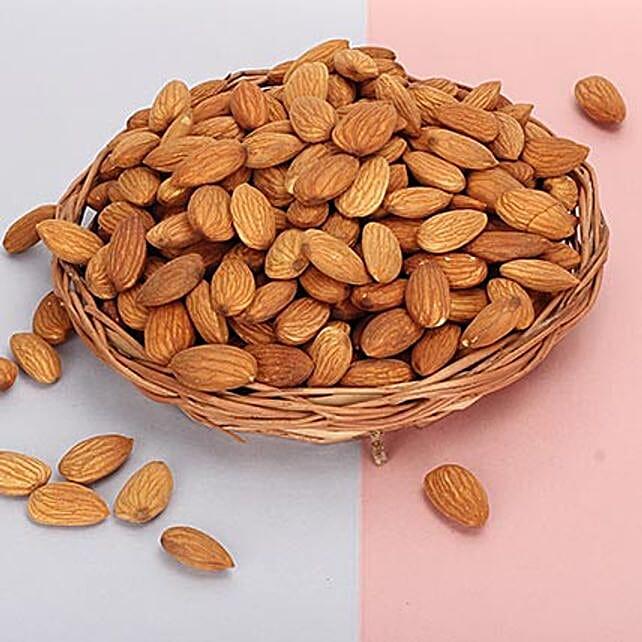 Basket of almonds
